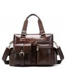 Фотография Коричневая мужская вместительная сумка Vintage 14676