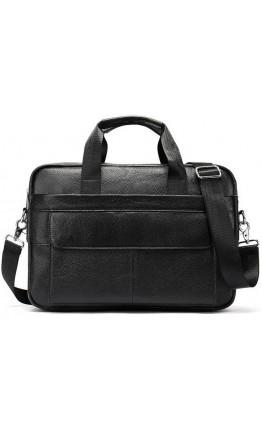 Мужская черная кожаная сумка Vintage 14678