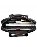 Фотография Мужская черная кожаная сумка Vintage 14678