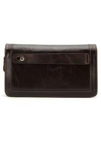 Коричневый клатч мужской Vintage 14679