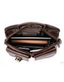 Фотография Мужская коричневая кожаная сумка на каждый день Vintage 14693