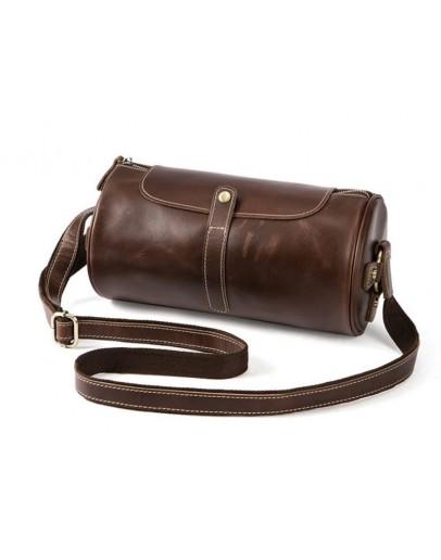 Фотография Оригинальная мужская закругленная сумка Vintage 14694