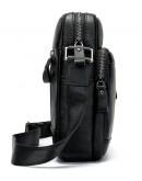 Фотография Черная кожаная мужская сумка на плечо Vintage 14701