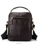 Фотография Коричневая мужская сумка - барсетка небольшая Vintage 14702