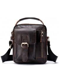 Коричневая мужская сумка - барсетка небольшая Vintage 14702