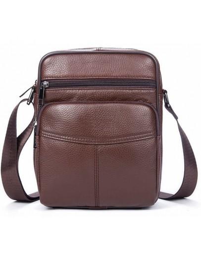 Фотография Небольшая коричневая мужская сумка на плечо Vintage 14705