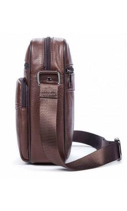 Небольшая коричневая мужская сумка на плечо Vintage 14705
