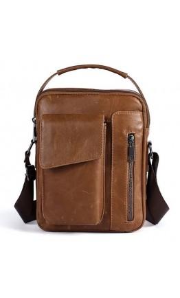 Мужская сумка-барсетка светло-коричневого цвета Vintage 14707