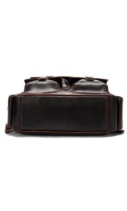 Темно-коричневый кожаный мужской рюкзак Vintage 14711