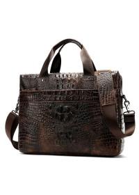 Мужская сумка для ноутбука с тиснением Vintage 14719