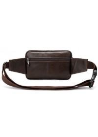 Коричневая мужская сумка на пояс Vintage 14727