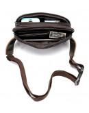 Фотография Коричневая мужская сумка на пояс Vintage 14727