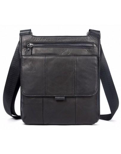 Фотография Кожаная сумка на плечо - планшетка мужская Vintage 14732