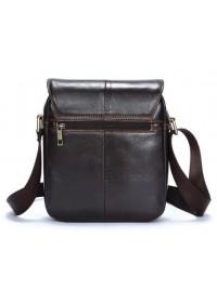 Коричневая мужская небольшая сумка кожаная Vintage 14733