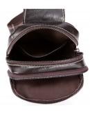Фотография Коричневый кожаный мужской слинг - сумка на плечо Vintage 14741