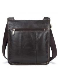 Коричневая сумка через плечо - планшетка кожаная Vintage 14742