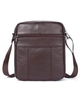 Коричневая мужская небольшая плечевая сумка Vintage 14744