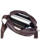 Фотография Коричневая мужская небольшая плечевая сумка Vintage 14744