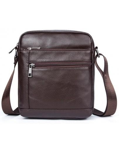 Фотография Мужская коричневая компактная сумка Vintage 14746