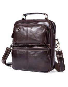 Мужская сумка из гладкой кожи Vintage 14748