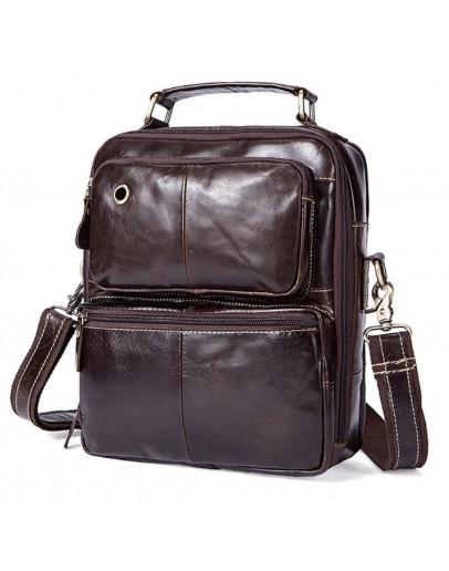 Фотография Мужская сумка из гладкой кожи Vintage 14748