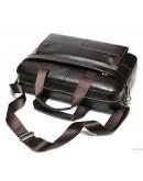 Фотография Темно-коричневая кожаная сумка деловая Vintage 14750