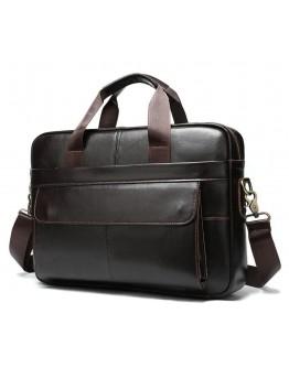 Темно-коричневая кожаная сумка деловая Vintage 14750