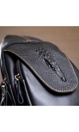 Черный мужской кожаный слинг Vintage 14760