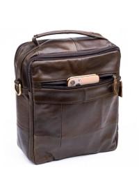 Сумка на плечо кожаная коричнева Vintage 14764