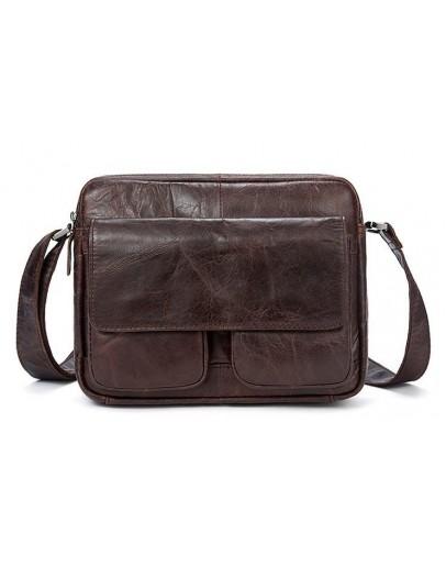 Фотография Мужская сумка кожаная коричневая Vintage 14767