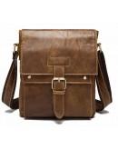 Фотография Светло-коричневая мужская сумка на плечо Vintage 14768