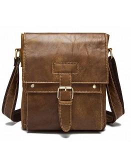 Светло-коричневая мужская сумка на плечо Vintage 14768