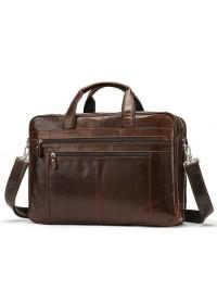 Коричневая мужская большая сумка Vintage 14770