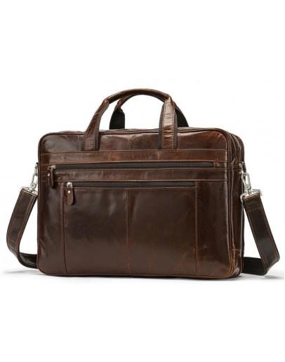 Фотография Коричневая мужская большая сумка Vintage 14770