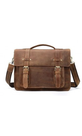 Винтажный портфель для мужчин кожаный Vintage 14775