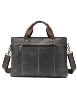 Мужская серая сумка для документов и ноутбука Vintage 14778