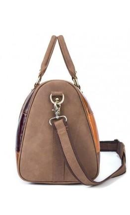 Оригинальная мужская кожаная дорожая сумка 14779