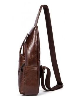 Коричневый кожаный мужской слинг Vintage 14783