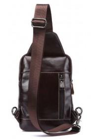 Слинг мужской кожаный коричневый Vintage 14786
