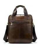 Фотография Коричневая вертикальная сумка формата А4 Vintage 14787