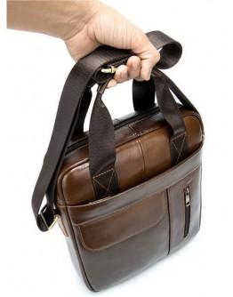 Коричневая вертикальная сумка формата А4 Vintage 14787