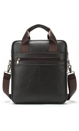 Коричневая кожаная деловая мужская сумка Vintage 14788