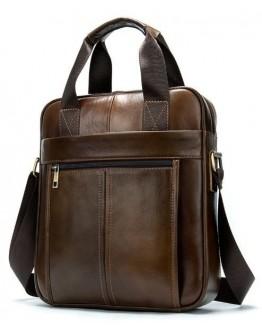 Коричневая сумка кожаная формата А4 Vintage 14789