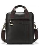Фотография Мужская вертикальная кожаная сумка Vintage 14791