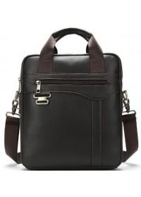 Мужская вертикальная кожаная сумка Vintage 14791