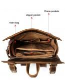 Фотография Вместительный мужской винтажный рюкзак Vintage 14796