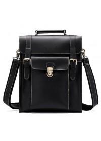 Деловая мужская сумка - трансформер черная Vintage 14797
