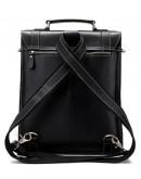 Фотография Деловая мужская сумка - трансформер черная Vintage 14797