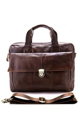 Коричневая кожаная сумка мужская Vintage 14798