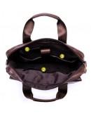 Фотография Коричневая кожаная сумка мужская Vintage 14798